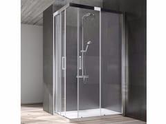 Box doccia angolare in cristallo con porta scorrevole DIP | Box doccia angolare -