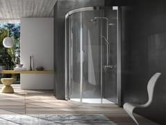 Box doccia semicircolare in cristallo con porta scorrevole DIP | Box doccia semicircolare -