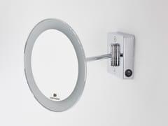Specchio ingranditore rotondo a parete con illuminazione integrata DISCOLO LED | Specchio ingranditore a parete - Discolo Led