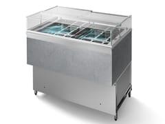 Vetrina refrigerata in acciaio inox da bancone per gelatiDLT80 | Vetrina refrigerata per gelati - ABACO BY ISA