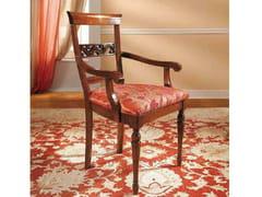 Sedia in legno massello con braccioli DOGI | Sedia con braccioli - Dogi