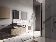 Ideagroup, DOLCEVITA BY AQUA COMP. 06 Lavabo sospeso con mobile e specchio