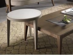 Tavolino basso rotondo DOMINIQUE | Tavolino in Cimento® - Dominique