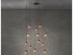Lampada a sospensione a LED in legnoDOMITA S/20/13L - BOVER IL. LUMINACIÓ & MOBILIARIO