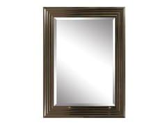 Specchio rettangolare in legno e vetro con cornice da pareteDONGE SILVER - MONDIART INTERNATIONAL