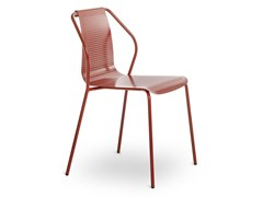 Sedia da giardino in metallo con braccioliDONNA | Sedia da giardino - BALERI ITALIA