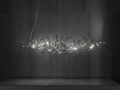 Lampada a sospensione a LED in nichel DOODLE HORIZONTAL - Doodle