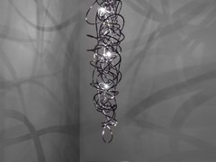 Lampada a sospensione a LED in metallo DOODLE VERTICAL - Doodle