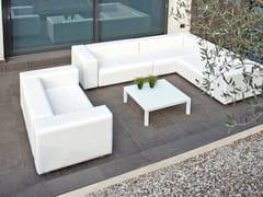 Divano modulare da giardino in SilvertexDORM | Divano da giardino angolare - CALMA