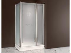 Box doccia rettangolare in vetro satinato con porta a battenteDORSET | Box doccia in vetro satinato - BATH&BATH