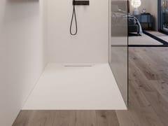 Piatto doccia filo pavimento rettangolare in ceramicaDOT - DISENIA SRL  BY IDEAGROUP