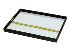 Vassoio rettangolare in legno e vetro DOTTED LINE - Gilded Layers