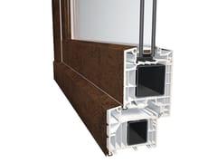 Porta d'ingresso in alluminio e PVC con pannelli in vetroDQG 85 SMART ALU - DIQUIGIOVANNI SRL