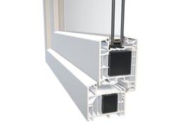 Porta d'ingresso in PVC con pannelli in vetroDQG 85 SMART - DIQUIGIOVANNI SRL