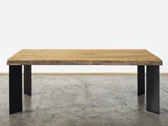 Tavolo da pranzo rettangolare in legno di recuperoDRAGANZIOLO - A&B ROSA DEI LEGNI BY ANTICA EDILIZIA