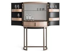Mobile bar in legno e metallo con vassoioDRAGONFLY | Mobile bar con illuminazione integrata - CIAC-EXPORT