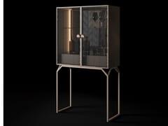 Mobile bar in vetro e metallo con vassoioDRAGONFLY | Mobile bar in vetro - CIAC-EXPORT
