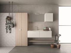 NOVELLO, DROP - COMPOSIZIONE D13 Mobile lavanderia a colonna