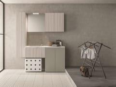 NOVELLO, DROP - COMPOSIZIONE D14 Mobile lavanderia componibile