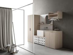 Mobile lavanderia componibileDROP - COMPOSIZIONE D04 - NOVELLO