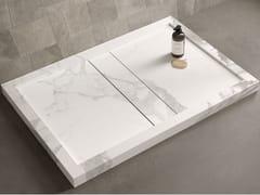 Piatto doccia rettangolare in gres porcellanatoDROP - ITALGRANITI