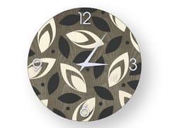 Orologio da parete in legno intarsiatoDROPS COLD | Orologio - LEONARDO TRADE
