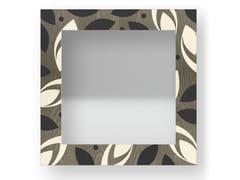 Specchio quadrato da parete con cornice DROPS COLD | Specchio - DOLCEVITA BRIO