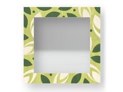 Specchio quadrato da parete con cornice DROPS COLORS | Specchio - DOLCEVITA BRIO