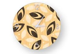 Orologio da parete in legno intarsiato DROPS WARM | Orologio - DOLCEVITA BRIO