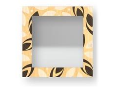 Specchio quadrato da parete con cornice DROPS WARM | Specchio - DOLCEVITA BRIO
