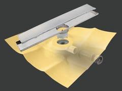 Scarico per doccia in metallo DRY50 LINEARE FLAT RIVESTIBILE - Dry