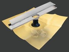 Scarico per doccia in metallo DRY50 LINEARE PREMIER RIVESTIBILE - Dry