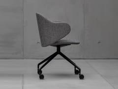 Sedia girevole in tessuto con ruoteDUA | Sedia con ruote - KRISTALIA