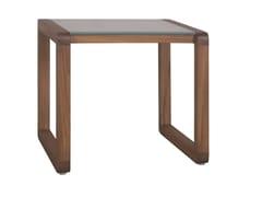 Tavolino da giardino quadrato in legno e vetro DUAL | Tavolino quadrato - Dual