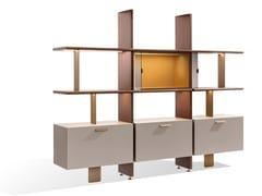 Libreria a giorno in legno con illuminazioneDUO S | Libreria con illuminazione - BELLANI