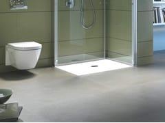 Piatto doccia antiscivolo filo pavimento quadrato in acrilico DURAPLAN | Piatto doccia quadrato - Duraplan