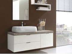 Sistema bagno componibileE.LY - COMPOSIZIONE 9 - ARCOM