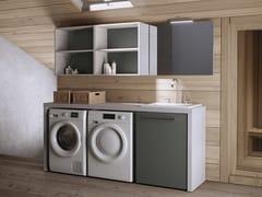 MOBIL CRAB, EASY 11 Mobile lavanderia componibile con lavatoio per lavatrice
