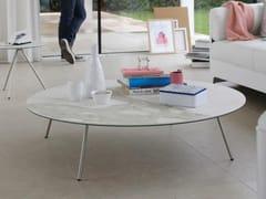 Tavolino basso in Xeramica da salotto EASY-4 | Tavolino rotondo -