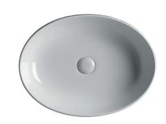Lavabo da appoggio ovale in ceramica EASY 55 - Easy