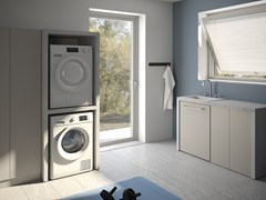 MOBIL CRAB, EASY 9 Mobile lavanderia componibile in HPL per lavatrice