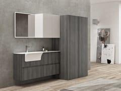 Mobile lavanderia in polimerico con cassetti per lavatriceEASY WASH - COMPOSIZIONE 7 - ALPEMADRE