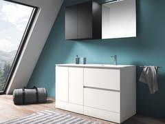 Mobile lavanderia in polimerico con lavatoio per lavatriceEASY WASH - COMPOSIZIONE 9 - ALPEMADRE