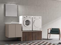 Mobile lavanderia in polimerico con lavatoio per lavatriceEASY WASH - COMPOSIZIONE 1 - ALPEMADRE