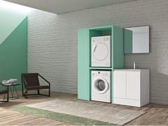 Mobile lavanderia in polimerico con lavatoio per lavatriceEASY WASH - COMPOSIZIONE 2 - ALPEMADRE