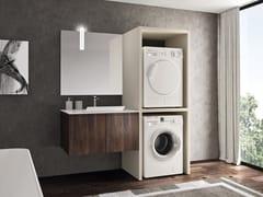 Mobile lavanderia in polimerico con lavatoio per lavatriceEASY WASH - COMPOSIZIONE 4 - ALPEMADRE