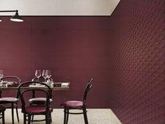 Rivestimento tridimensionale in ceramica ECLETTICA | Str. Diamond 3D Purple - MARAZZI GROUP
