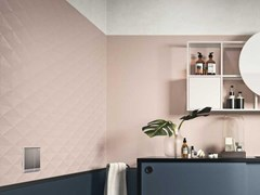 Rivestimento tridimensionale in ceramica ECLETTICA | Str. Diamond 3D Rose - MARAZZI GROUP