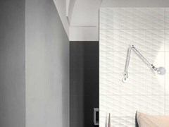 Rivestimento tridimensionale in ceramicaECLETTICA | Str. Diamond 3D White - MARAZZI GROUP