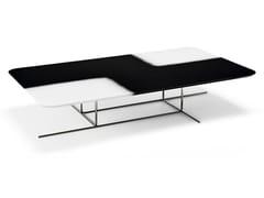 Tavolino rettangolare in MDF e metalloECLIPSE - ARKETIPO